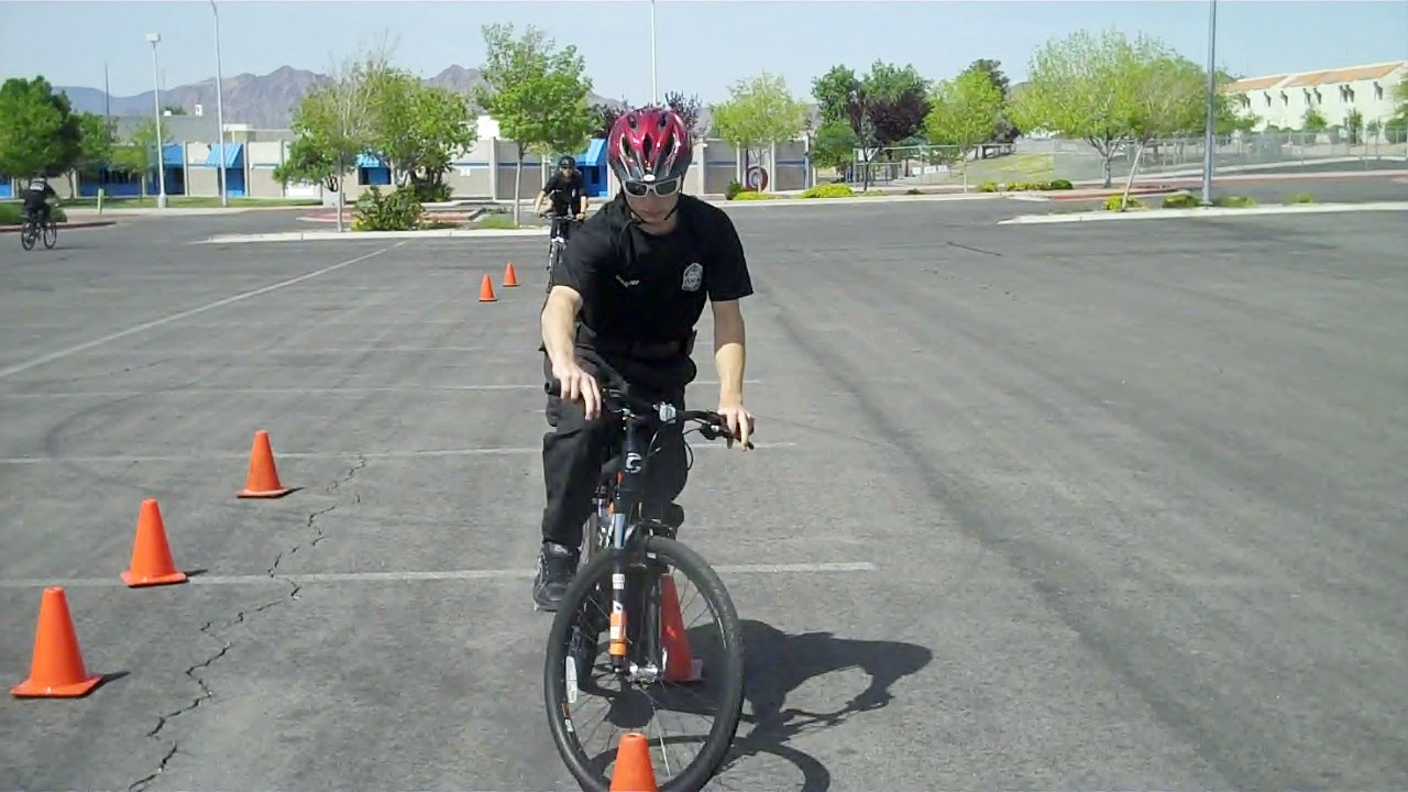 Explorer Bike Patrol Training conducted by Advisor CCSD Police Sergeant Reggie Beatty
