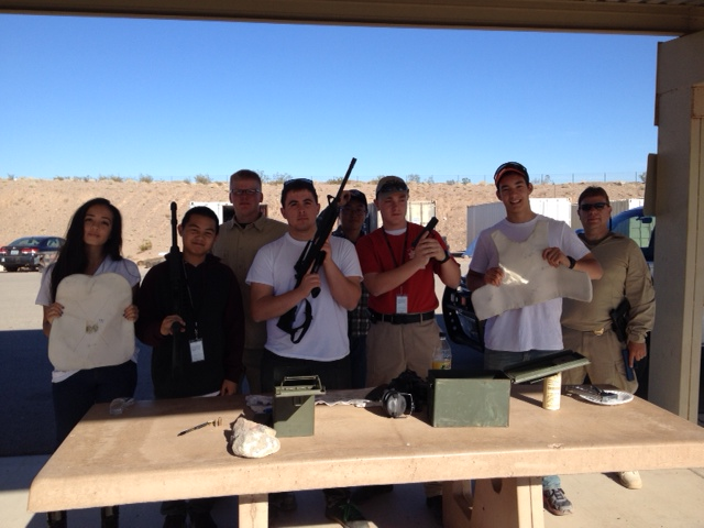 Advisor and Range Master Officer Tom Perkins conducting range and firearm safety for Post 198