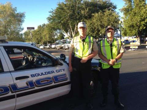 Explorers Scott and Lee on foot patrol at Art in the Park 2013